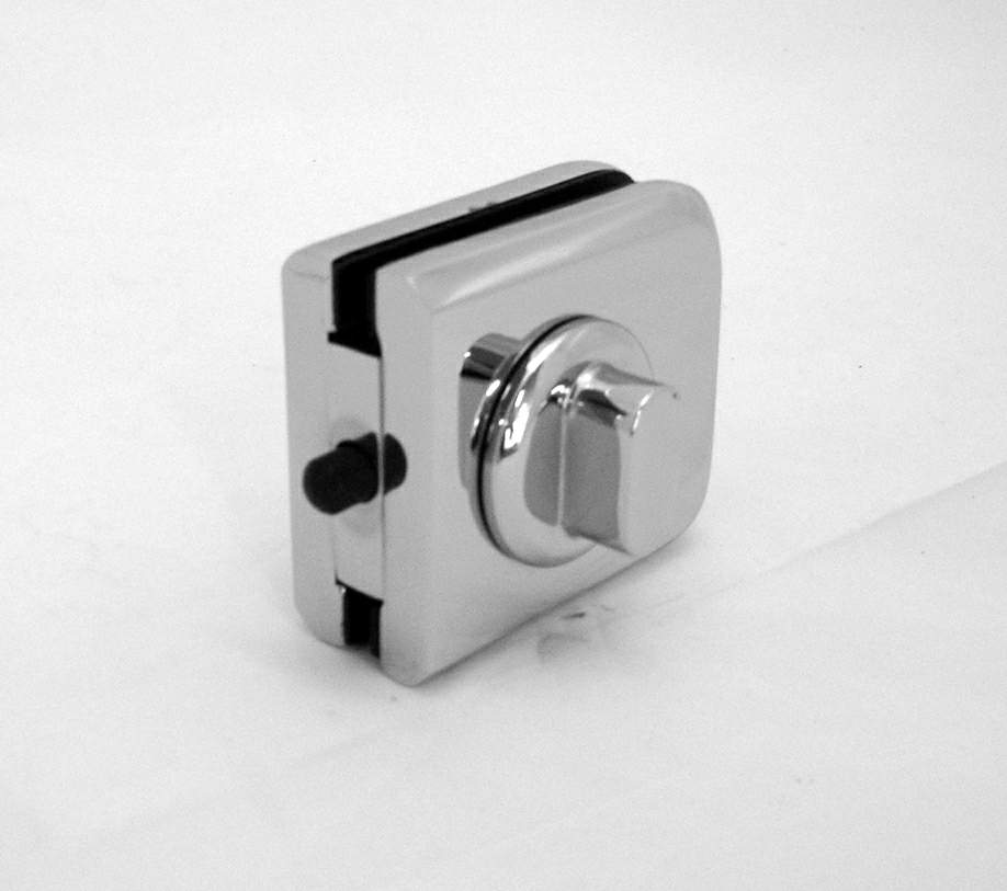 Thumbnail - Double sided plunger latch Chrome to suit 10mm