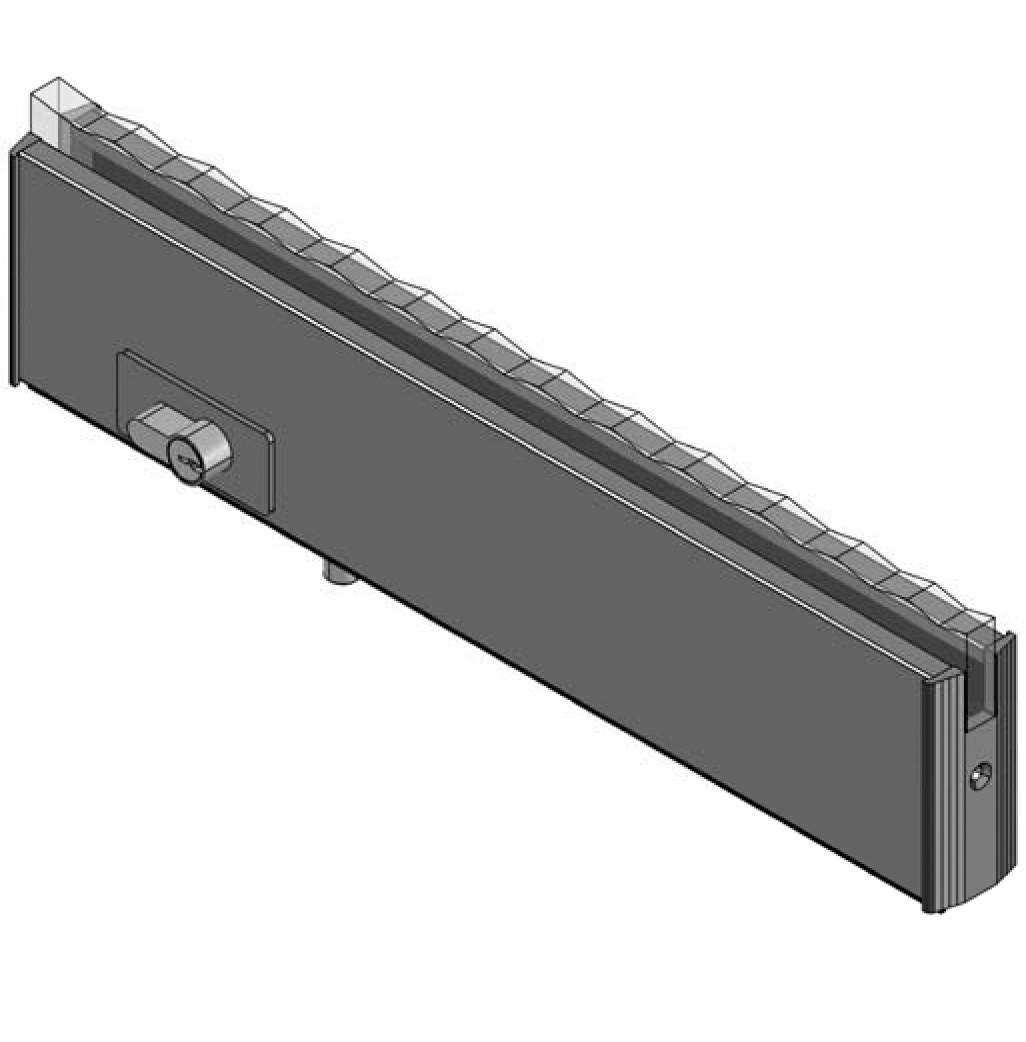 Thumbnail - Bottom Door Rail with Euro Lock MILL