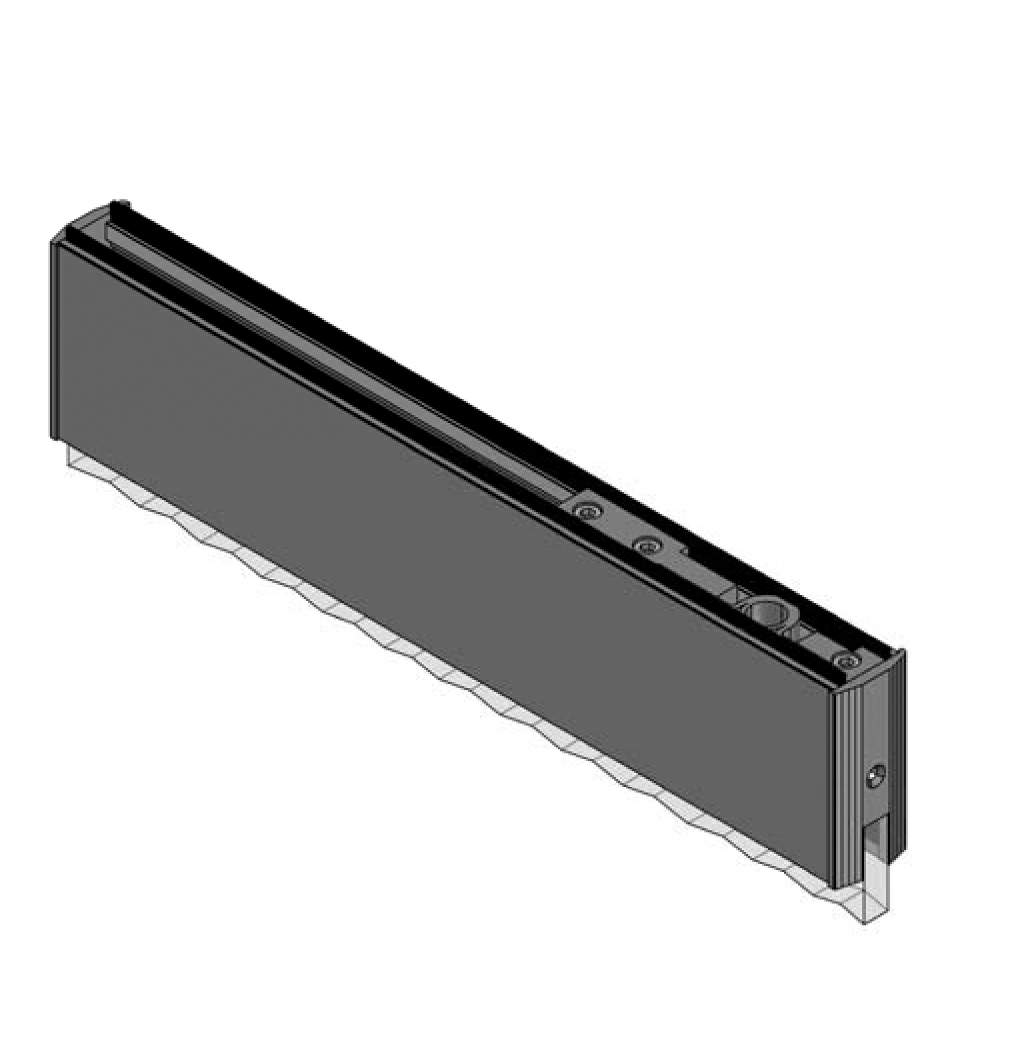 Thumbnail - 10mm Glass Top Door Rail without Lock SSS