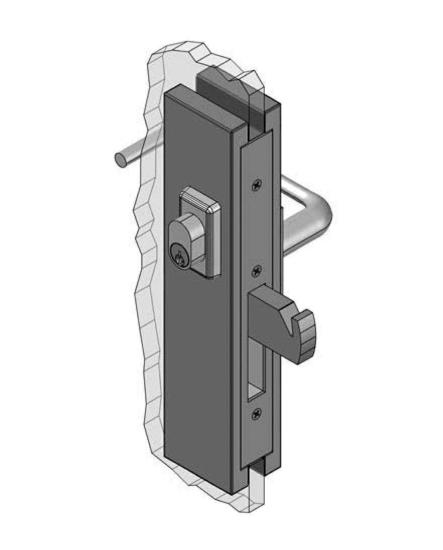 Thumbnail - Slimline Centre Mount Sliding Escape Lock SSS