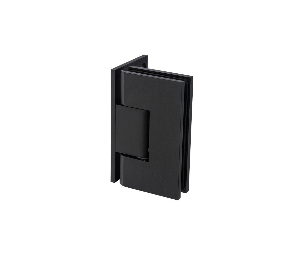 Thumbnail - Mycro Glass To Wall L Shape 90° Hinge Black