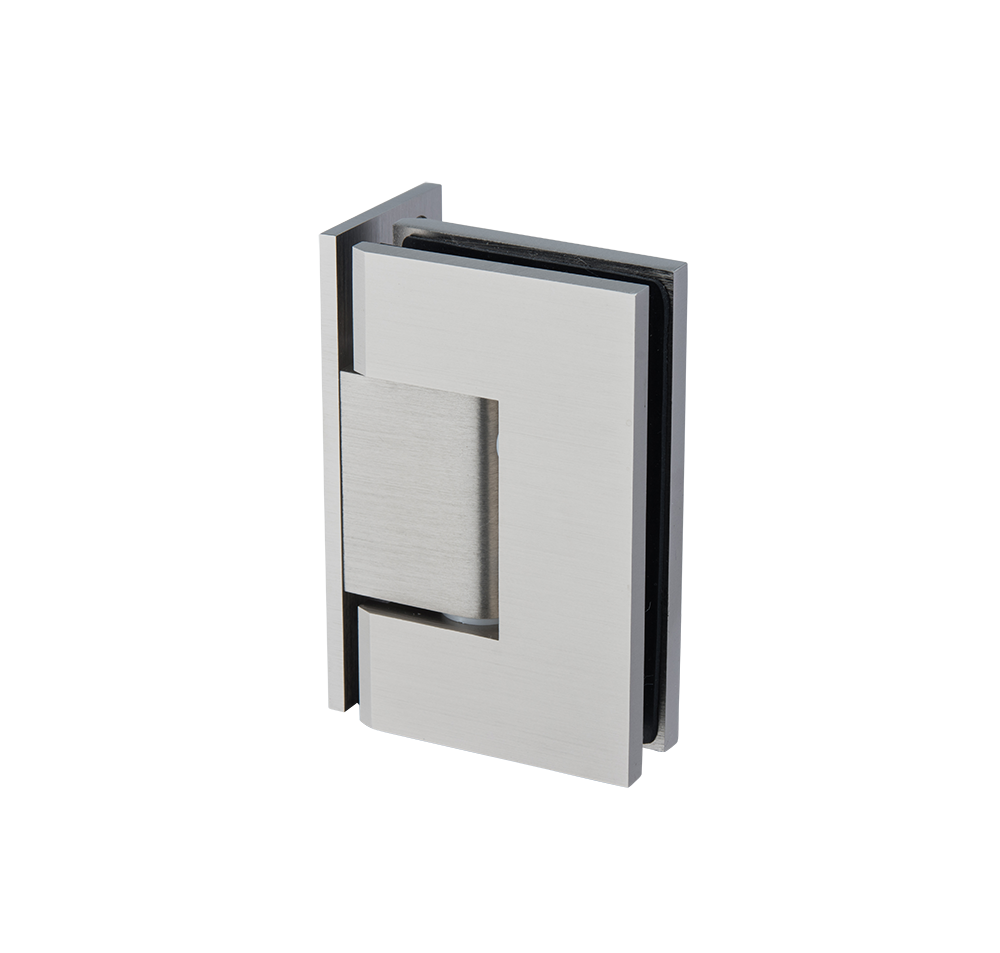 Thumbnail - Glass to Wall L-Shape 90 Deg Hinge Brushed Nickel