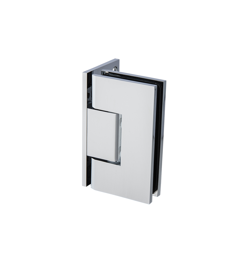 Thumbnail - Mycro Glass To Wall L Shape 90 Degree Hinge Chrome