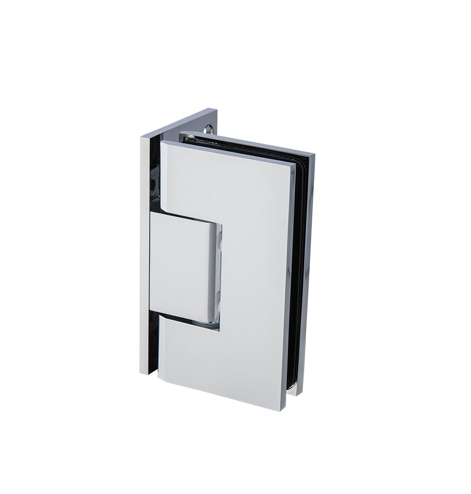 Thumbnail - Glass to Wall L-Shape 90 Deg Hinge Chrome