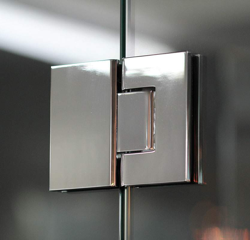 Thumbnail - Concealed Glass to Glass Hinge Polished Chrome