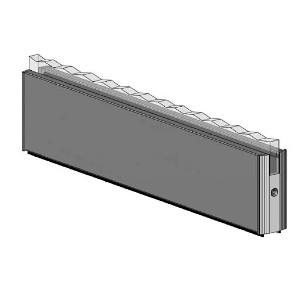 Thumbnail - Bottom Door Rail without Lock BLK