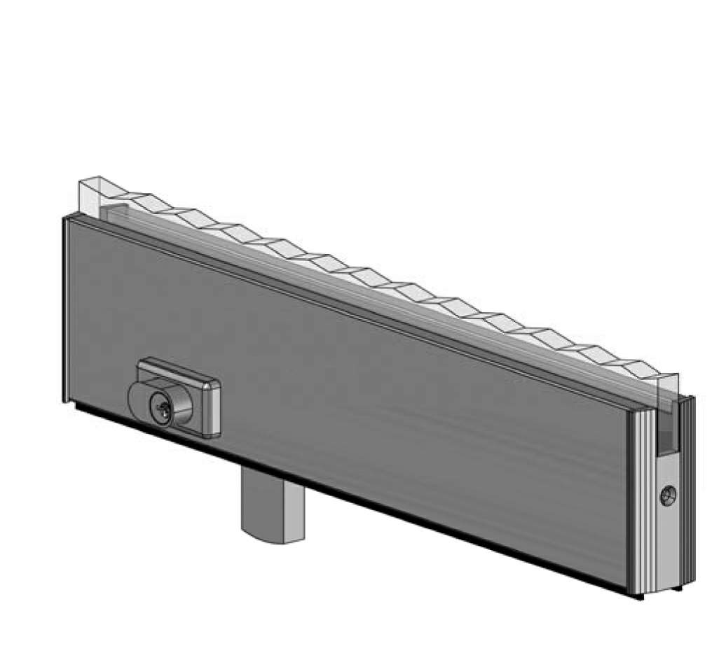 Thumbnail - 10mm Glass Bottom Door Rail with Lock SSS