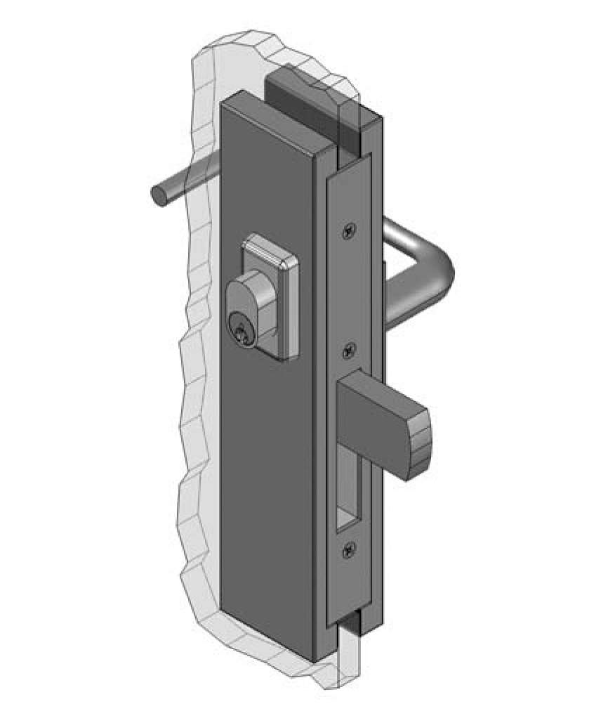 Thumbnail - Slimline Centre Mount Escape Patch Lock RH SSS
