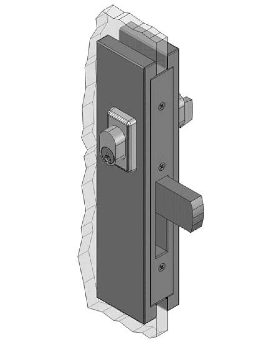 Thumbnail - Slimline Centre or Bottom Mount Patch Lock PSS