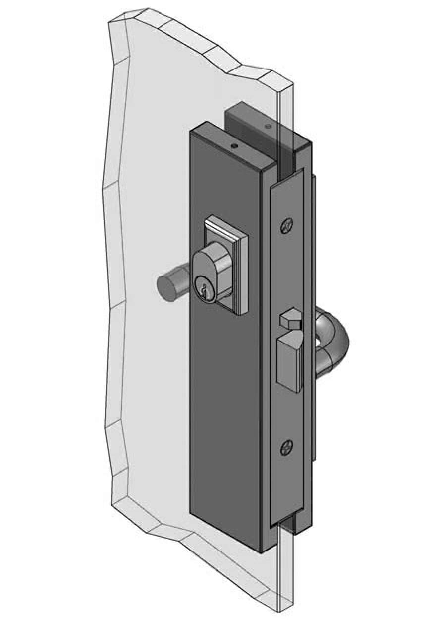 Thumbnail - Slimline Escape Patch Lock 3580 type RH SSS