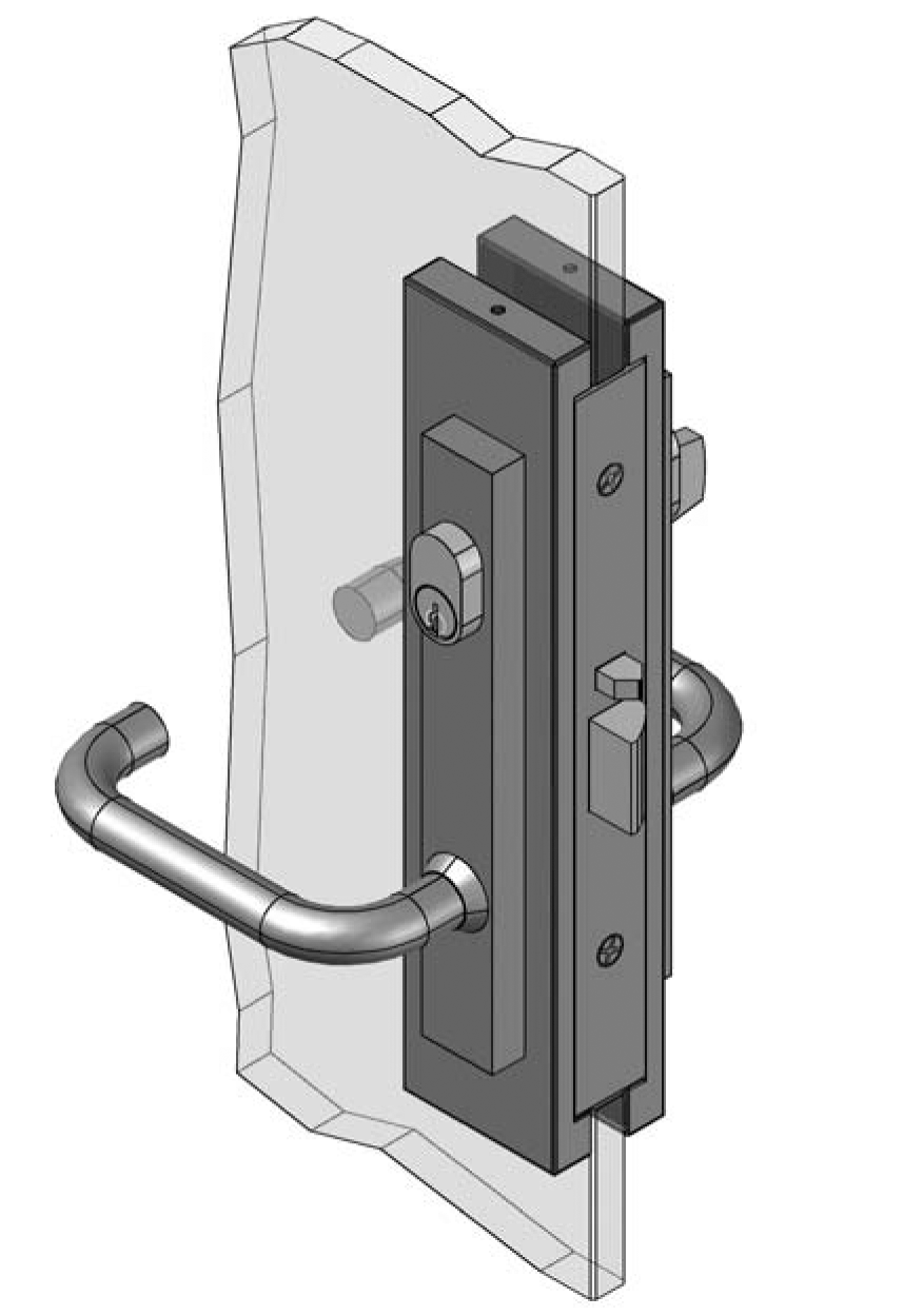 Thumbnail - Slimline D/Lever Patch Lock 3580 type PSS