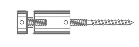 Thumbnail - M12 Timber Fix Lag Screw @ 160mm Long Overall