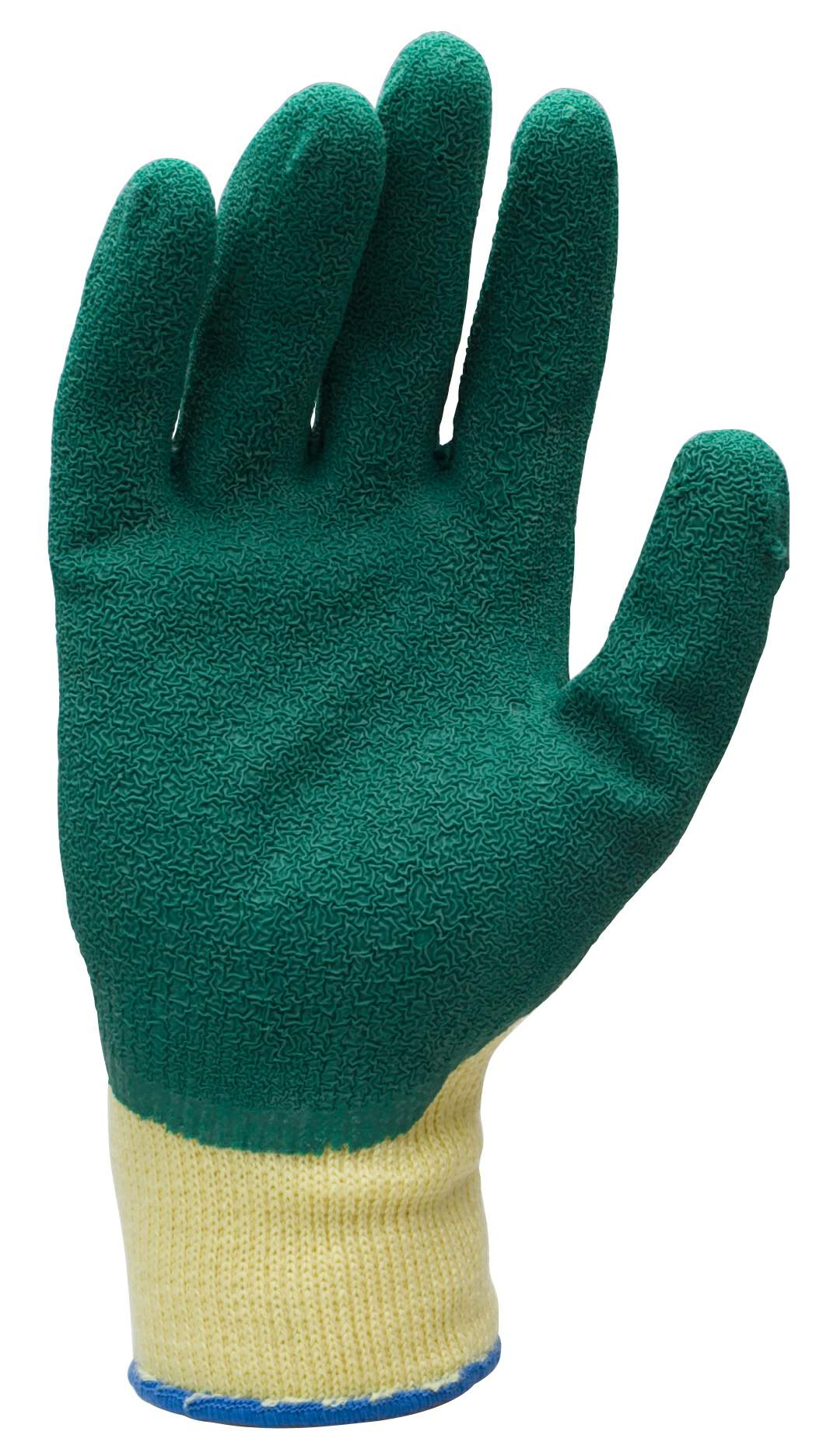 Thumbnail - Green Rubber Grip Gloves Size 8
