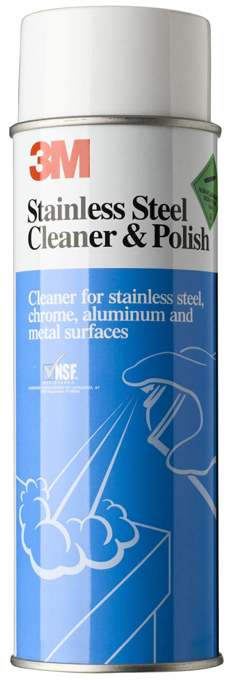 Thumbnail - 3M Stainless Steel Cleaner Aerosol 600g