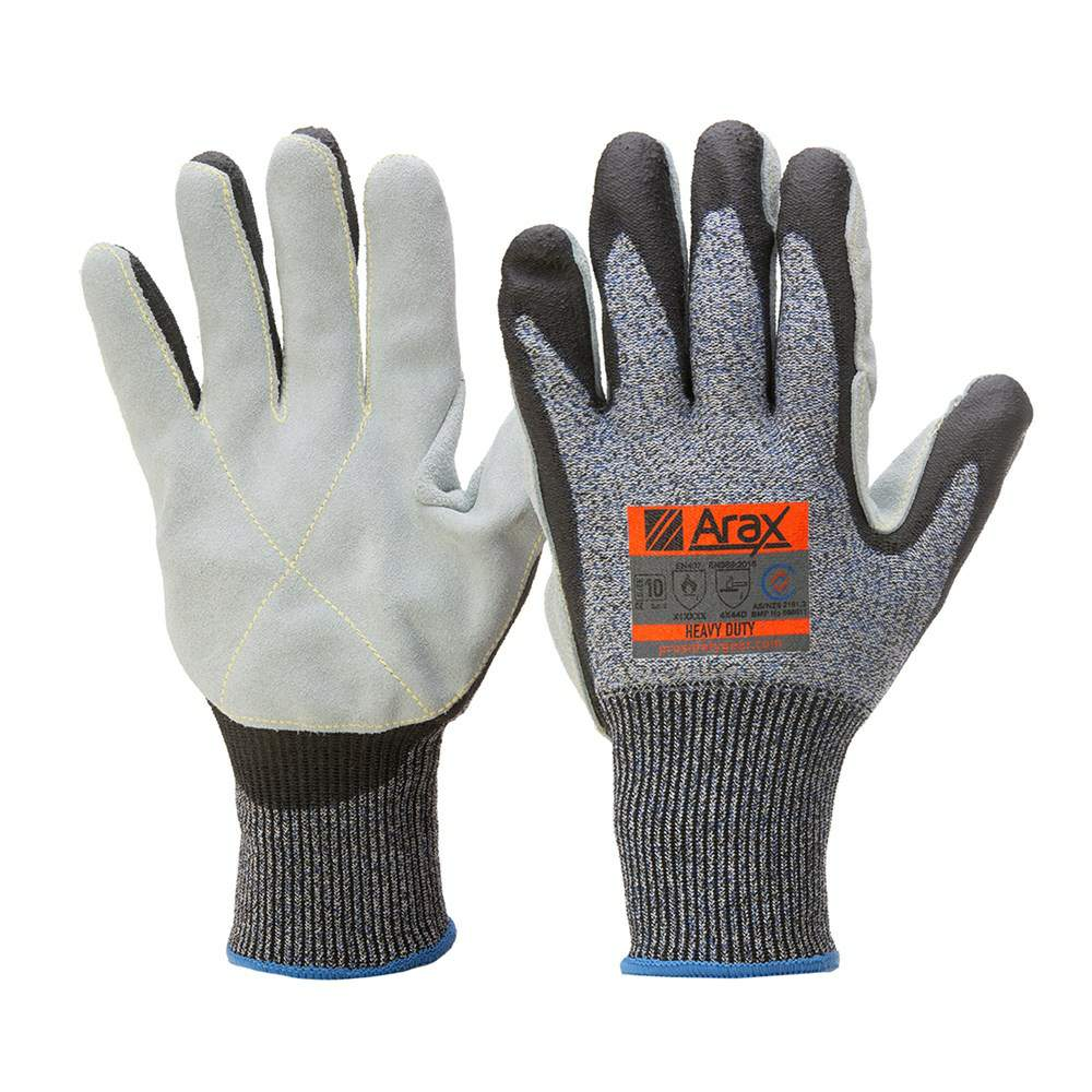 Thumbnail - ARAX HEAVY DUTY LEATHER PALM GLOVE (SIZE 10/XL)