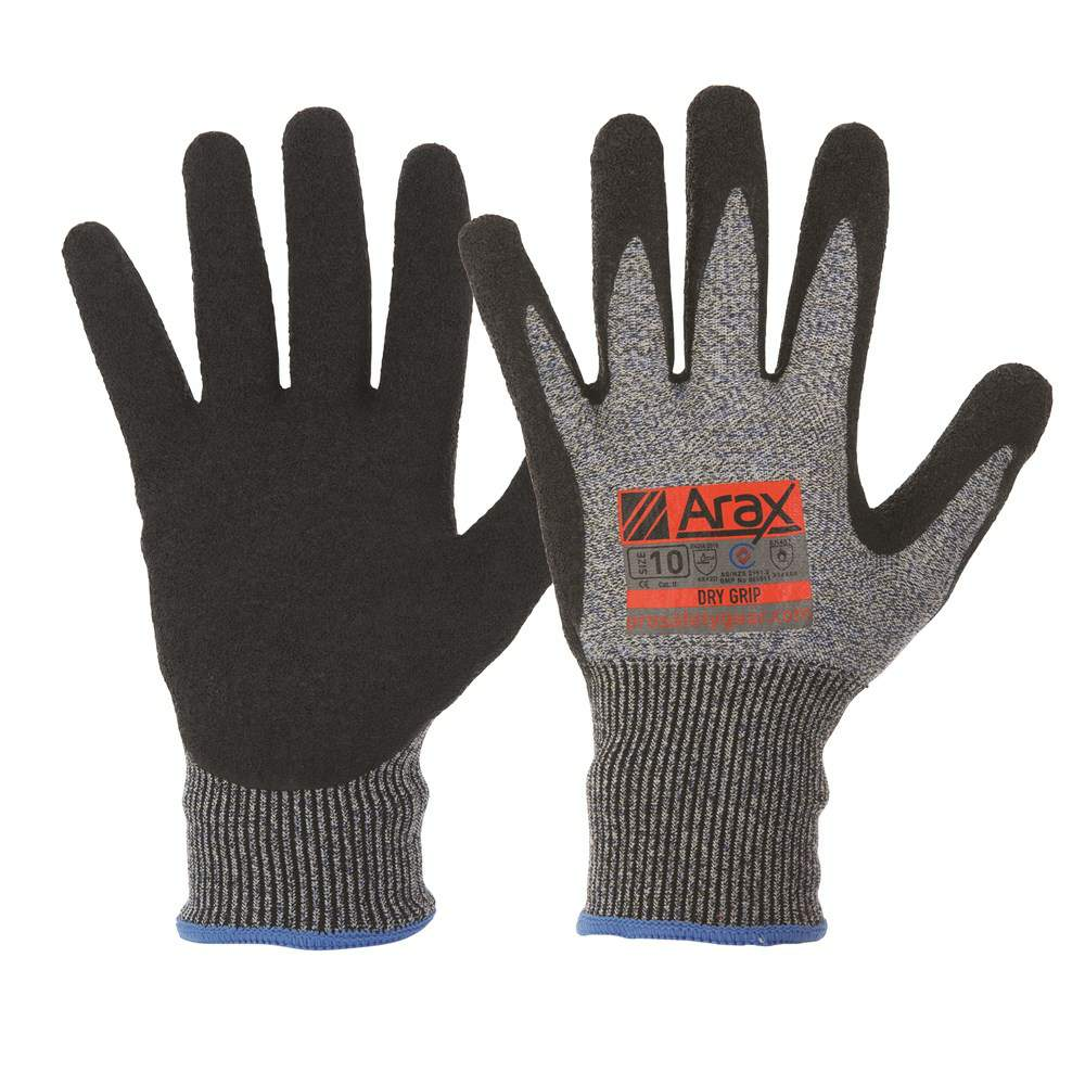 Thumbnail - ARAX DRY GRIP GLOVE CUT 5 RATING (SIZE 10)