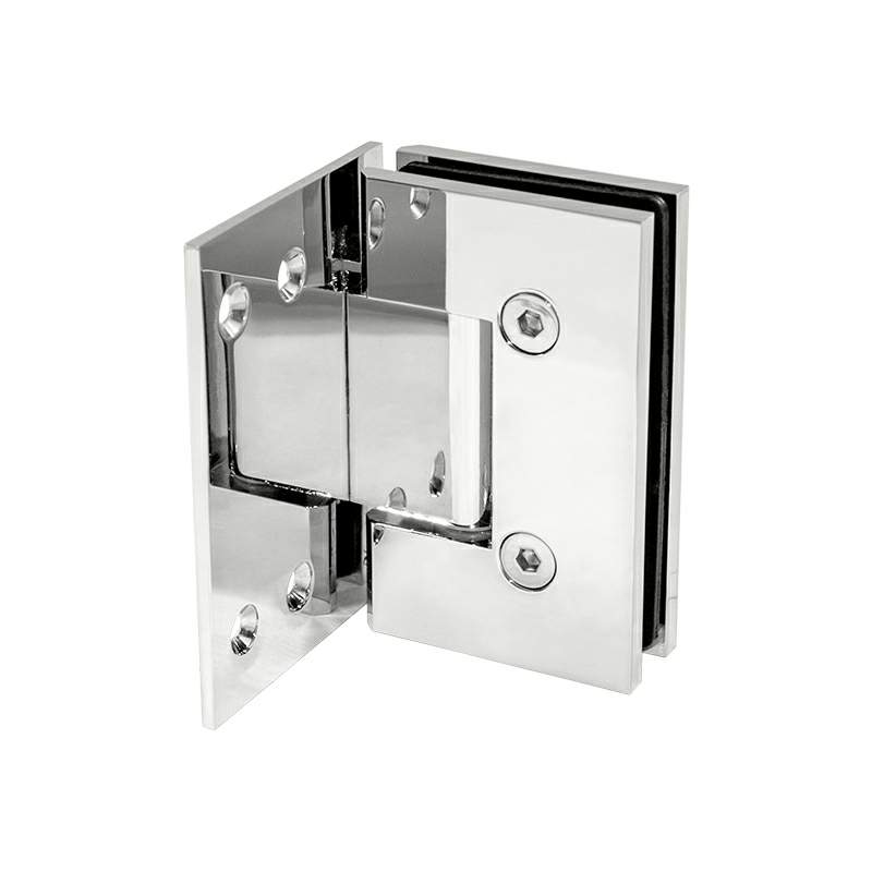Thumbnail - Glass to Wall 90 Degree Hinge with Ext Back Plate Chrome